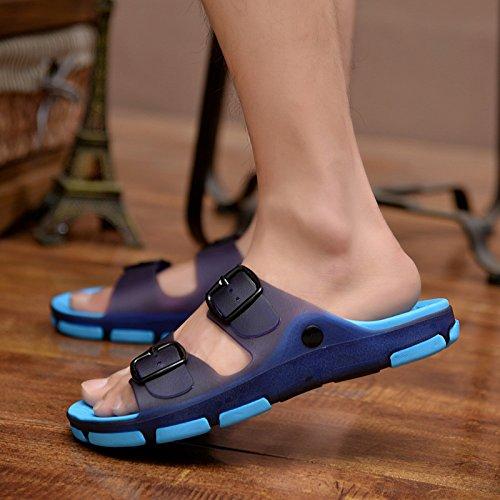 personalità maschio gli scarpe 46 sia all'interno estate da della sandali cool pantofole e umido uomini di bagno scarpe da per scuro antiscivolo spiaggia Uomini stanza blu fankou fuori al qtvwz8t