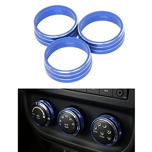 [해외]알루미늄 인테리어 에어컨 컨디셔닝 스위치 커버 트림 링 2011-2016 지프 랭글러 JK JKU Compass Patriot/Aluminum Interior Air Conditioner Conditioning Switch Cover Trim Ring for 2011 - 2016 Jeep Wrangler JK JKU Compass Patriot