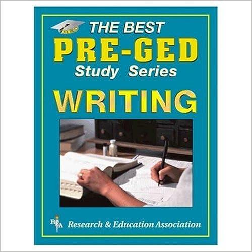 Pre-GED Writing (GED® Test Preparation)