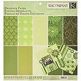 K & Company  Sheer Simplicity Designer Paper Pad, 12-Inch x 12-Inch, 60 Sheets, Green