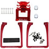 SAMLOO Upgreade Legs & Action Camera Gimbal Mount Holder Adapter Bracket for Syma X8 X8G X8HG X8C X8HC X8W X8HW RC Drone Quadcopter, Red