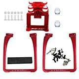 SAMLOO Upgreade Legs & Action Camera Gimbal Mount Holder Adapter Bracket for Syma X8 X8G X8HG X8C X8HC X8W X8HW RC Drone Quadcopter - Red