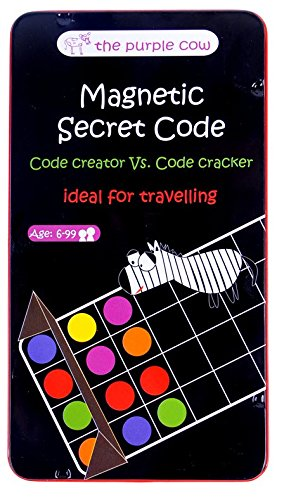 Magnetic Travel Secret Code Game - The Code Creator vs. The Code Cracker Game - Car Games , Airplane Games and Quiet - Christmas Presents Year 70 Old