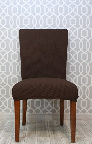 Bee & M Home Fashions Stretch Polyester & Spandex Blend Slipcover - Dining Chair - Brown