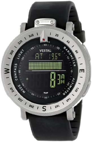 "Vestal Men's GDEDP01 ""The Guide"" Stainless Steel Digital Watch"