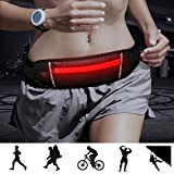 Bseen Running Belt – USB Rechargeable Led Waist Pack Fanny Pack for Man Women Outdoor Sports Travel Running Hiking (Red) For Sale