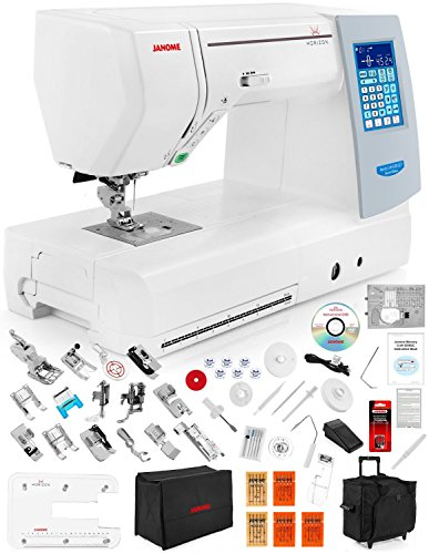 Janome Memory Craft Horizon 8200 QCP Special Edition Computerized Sewing Machine w/ Extension Table + Trolley + Semi-Hard Cover + Cloth Guide + Much More!