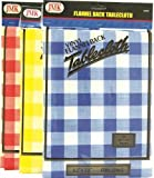 Flannel Back Tablecloth assorted colors 132cm x 178 cm Oblong