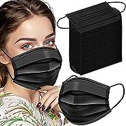 Black Disposable Face Masks, 100 Pack Disposable Face Masks Disposable Masks