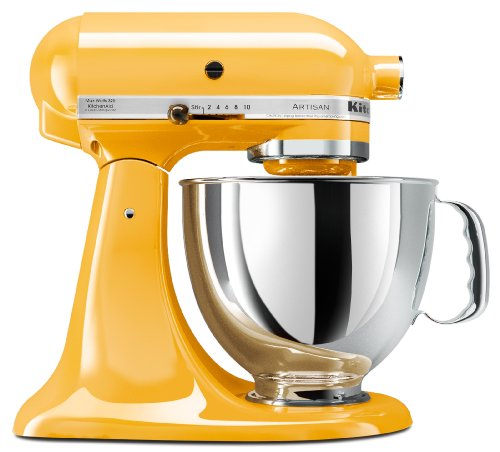 KitchenAid KSM150PSBF Artisan 5-Quart Stand Mixer, Buttercup ()