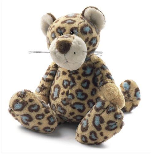 NICI 26543 - Leopardo in Peluche con Cuoricini Blu, 50 Cm