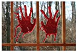 1 PAIR Real Loooking Halloween Bloody 3-D Cling on Hands & 1 Fake Surprising Trick arm