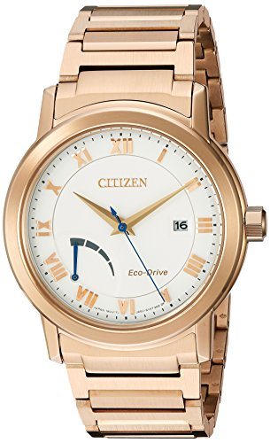 Citizen-Mens-Eco-Drive-Dress-Quartz-Stainless-Steel-and-Gold-Automatic-WatchModel-AW7023-52A