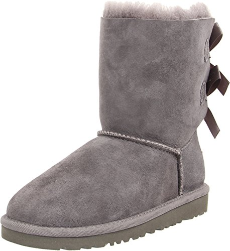 UGG Australia Girls' Bailey Bow Sheepskin Fashion Boot Grey 4 M US by UGG