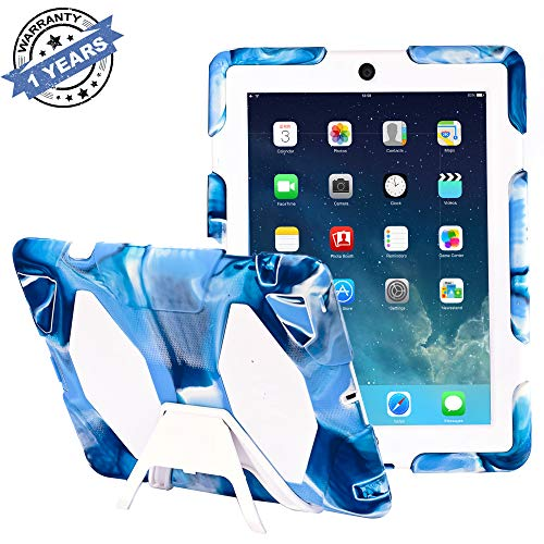 ipad 2/3/4 case,kidspr ipad case NEW HOT Super Protect [shockproof] [rainproof] [sandproof] with Built-in Screen Protector for Apple iPad 2/3/4,2015 new style for ipad 2/3/4 (White Shield Protector Case)