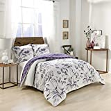 Marble Hill Jasmeen Comforter Set, King, Purple