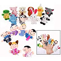 Binnan 16 Pcs Juguete Marionetas de Mano Animales