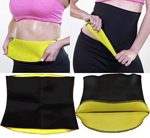 Tuesdays2 Hot Sweat Neoprene Shapers Slimming Belt Waist For Weight Loss Women & Men (Black, L)