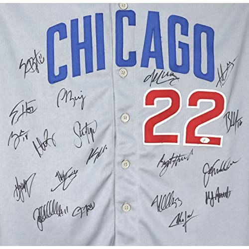 the latest dcd84 77f74 Chicago Cubs 2016 Team World Series Champions Signed ...