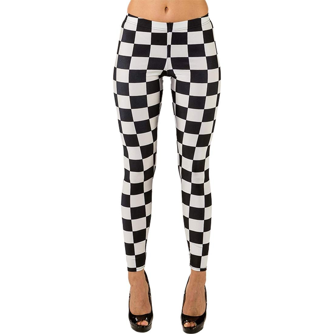 d03f5b6a027a3 NET TOYS Attractive Women's Leggings Chessboard Patterns | Black-White in  size S/M (UK 10-16) | Casual Women's Tights Check Pattern | Ideal for Theme  ...
