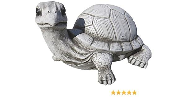 AnaParra Figura Decorativa para Exterior de Tortuga 30cm. de hormigón-Piedra para jardín Natural Musgo: Amazon.es: Jardín
