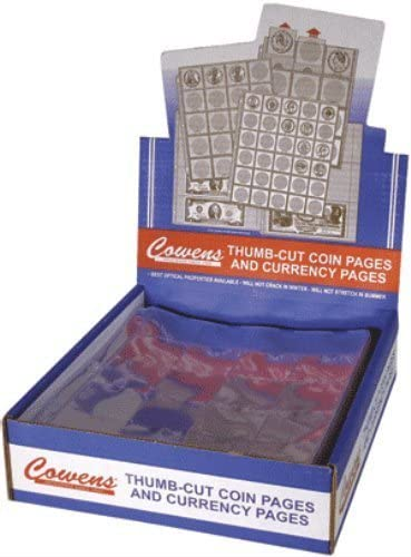 "100 2X2 /""COWENS/"" Cardboard//Mylar Coin Holders LARGE DOLLAR Sized"