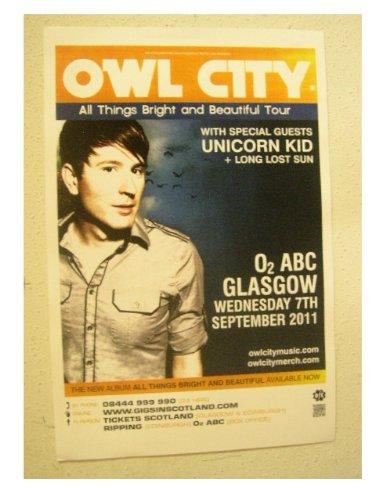Owl City Poster Handbill: Amazon co uk: Kitchen & Home