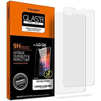 Spigen LG G6 Screen Protector Tempered Glass [ Case Friendly ] 2 Pack for LG G6