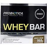 Whey Bar High Protein, Probiótica, Cookies & Cream, 40 g, 24 Unidades
