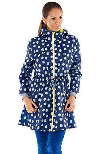 Femme Manteau Parka Blue Daisy Navy Climate Pro impermable 1ZTwnxqzW5