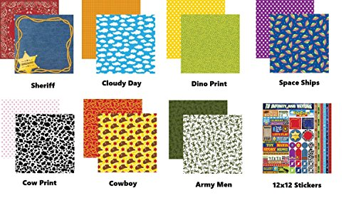 Toy Story Toybox 12x12 Scrapbook Papers and Stickers -