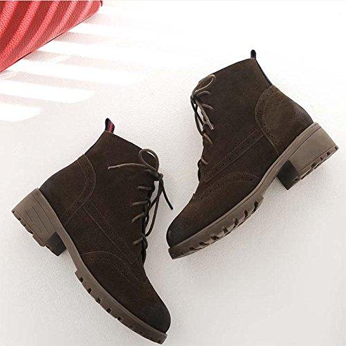 Stivaletti Autumn And Winter Retro boots Scarpe di grandi dimensioni , 36