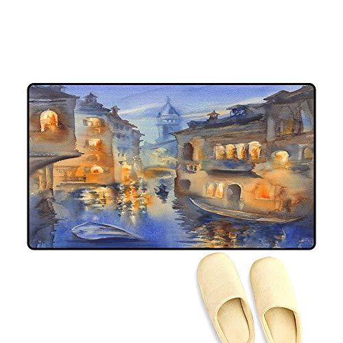 Venetian Bath Light Light - Bath Mats for Floors Venetian Lights Watercolor