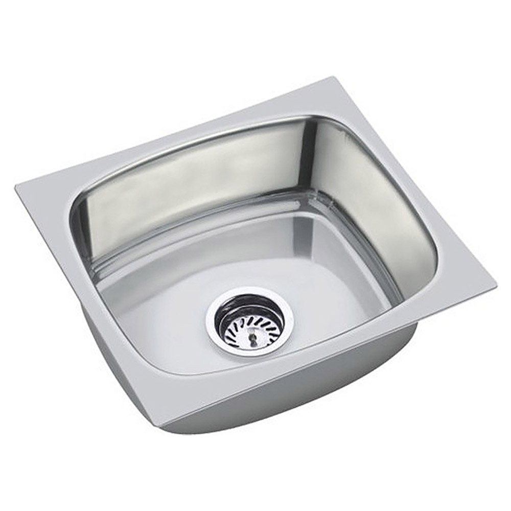 SS Sink Stainless Steel Single Bowl  (Chrome, 18*16*8 Inches): Amazon.in:  Home Improvement