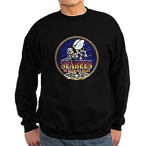 CafePress - US Navy Seabees Lava Glow Sweatshirt (dark) - Classic Crew Neck Sweatshirt from CafePress