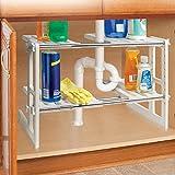 Adjustable Under Sink Storage Shelf