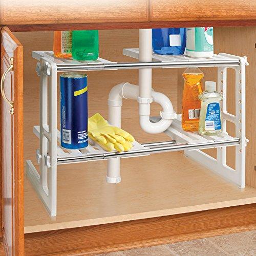 Under Sink Shelves Storage Shelf Organizer Bathroon Adjustab