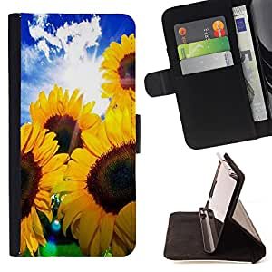 - Sunflower Sun flower - - Style PU Leather Case Wallet Flip Stand Flap Closure Cover FOR Samsung Galaxy S5 Mini, SM-G800 - Devil Case -