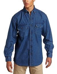 Key Apparel mens big-tall Premium Enzyme Washed Long Sleeve Denim Shirt Big/Tall