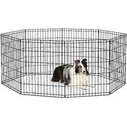 "New World Pet Products B552-30 Foldable Exercise Pet Playpen, Black, Medium/24"" x 30"""