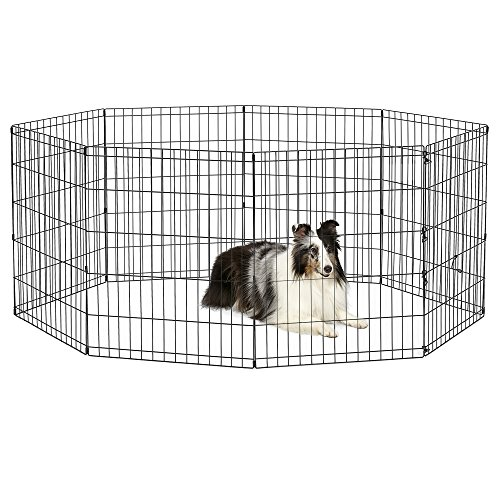 (New World Pet Products B552-30 Foldable Exercise Pet Playpen, Black, Medium/24