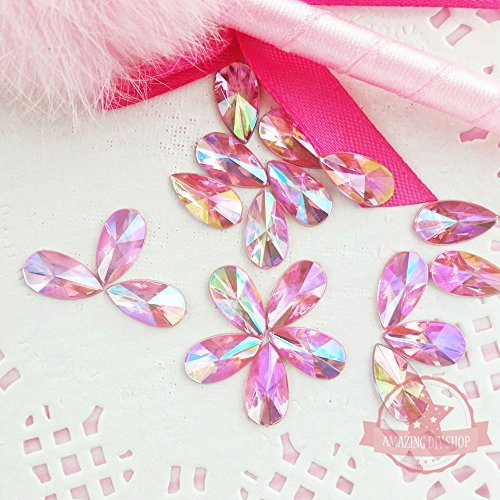 Pink Acrylic Rhinestone - 9
