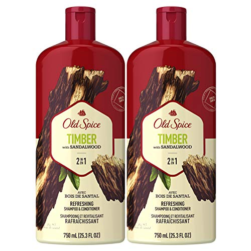 Old Spice Timber with Sandalwood Men's 2 in 1 Refreshing Shampoo &...