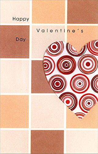 Tile Valentine (Circles in Heart on Tiles - Freedom Greetings Valentine's Day Card)