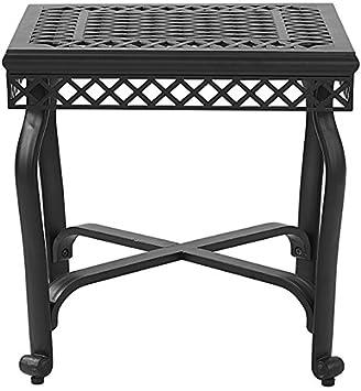 Crosley Furniture CO6204-BK Palermo Outdoor Aluminum End Table, Black