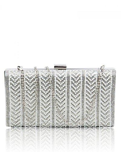 London Craze Pour Femme Silver Pochette dxXqX7H
