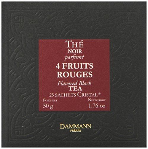 DAMMANN FRERES Quatre Fruits Rouges Tea Sachets, 25 - Rouges Fruits