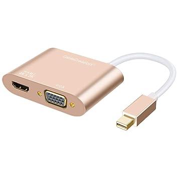 Mini DP a HDMI adaptador VGA, 2-en-1 (dos-en-uno) Mini DisplayPort ...