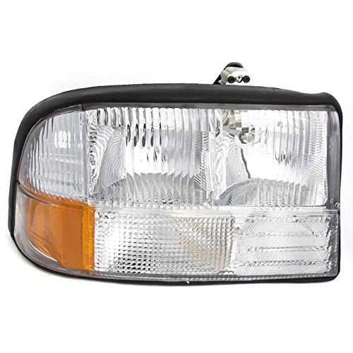 CarPartsDepot Head Light Lamp Right Hand Side GM2503174 Fit 98-04 Gmc Sonoma Pick Up Truck