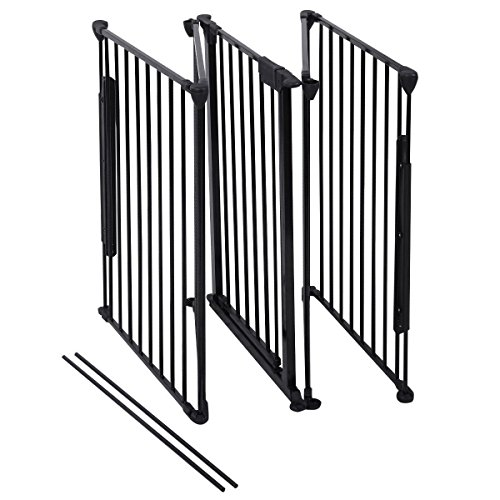 Costzon New Fireplace Fence Baby Safety Fence Hearth Gate